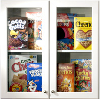 cabinet with cereal